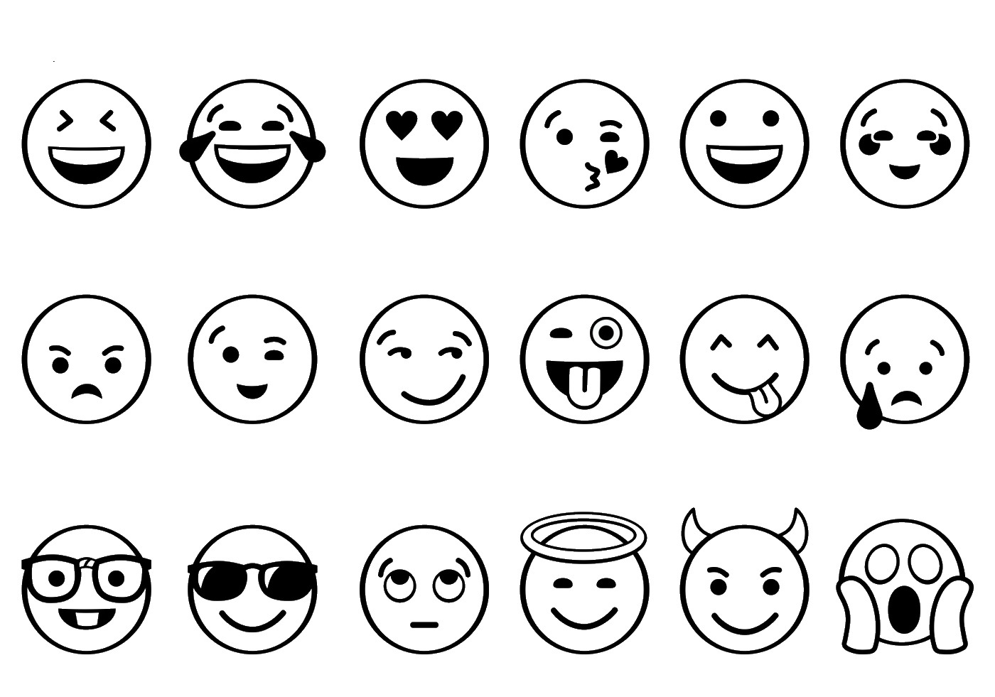graphic regarding Emoji Faces Printable called 23 Printable Emoji Coloring Internet pages Pics Totally free COLORING Webpages