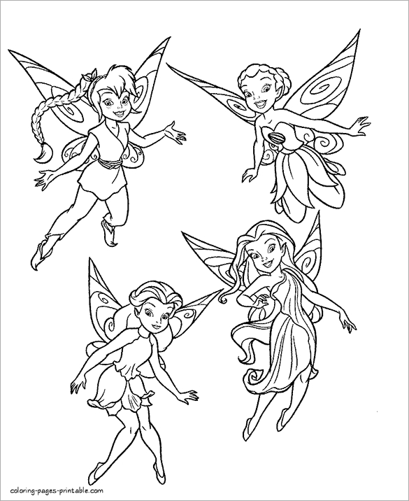 printable fairy coloring pages fairy coloring page - Printable Fairy Coloring Pages