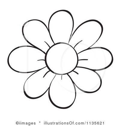 printable flower coloring pages - flower outline clipart