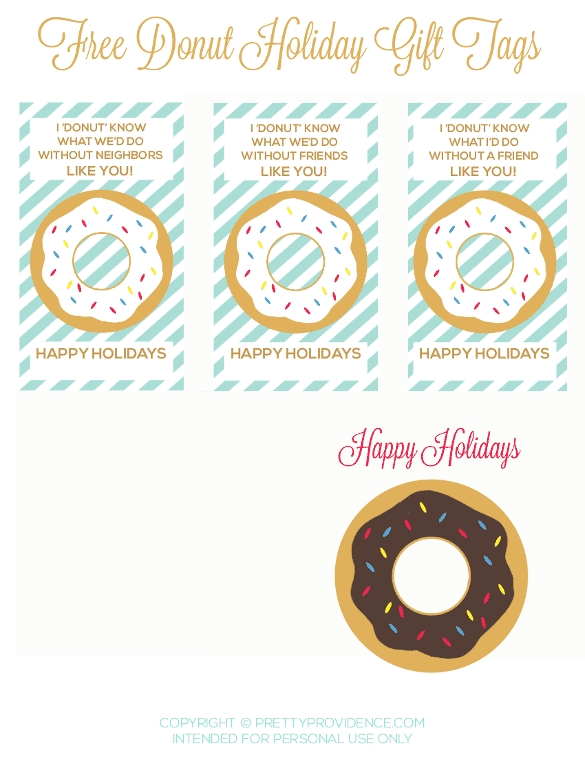 printable holiday coloring pages - donut t tags birthday blog hop