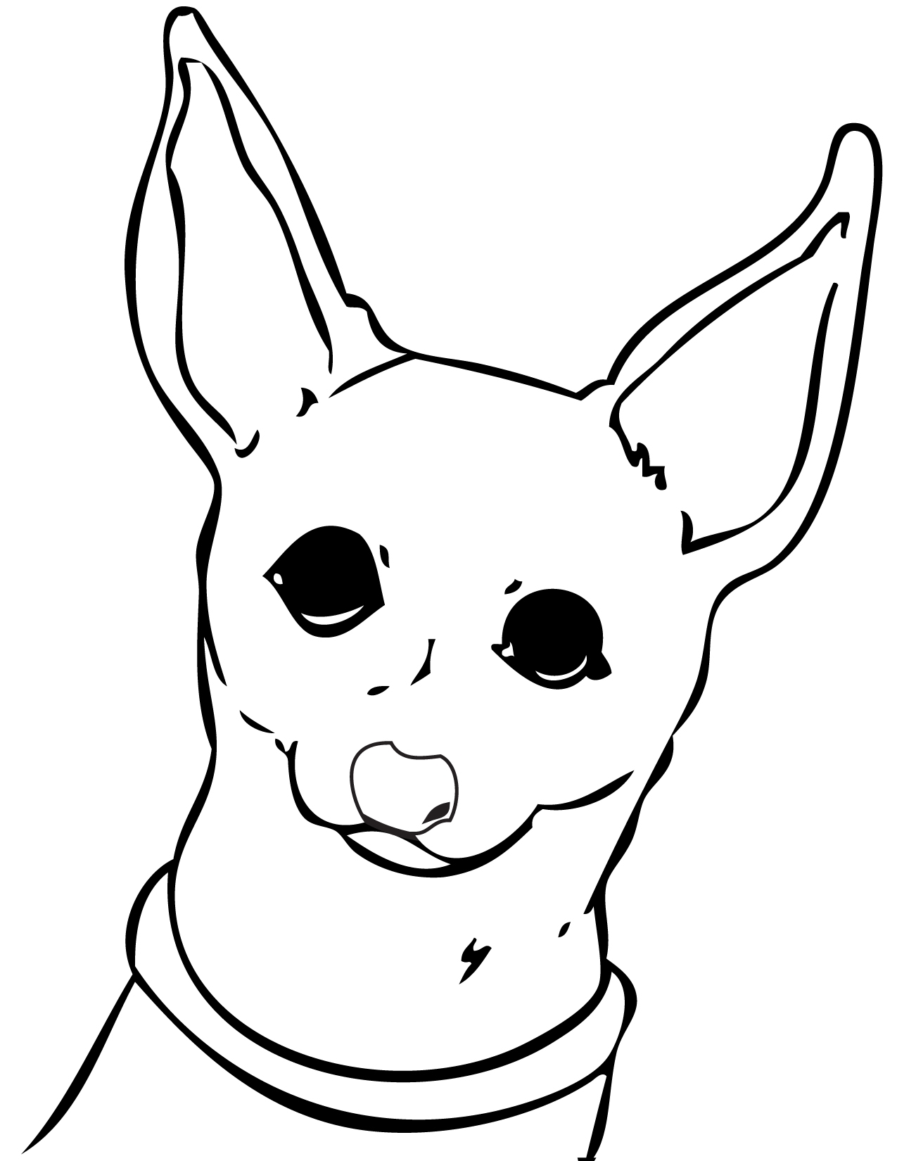 printable kitten coloring pages - chihuahua