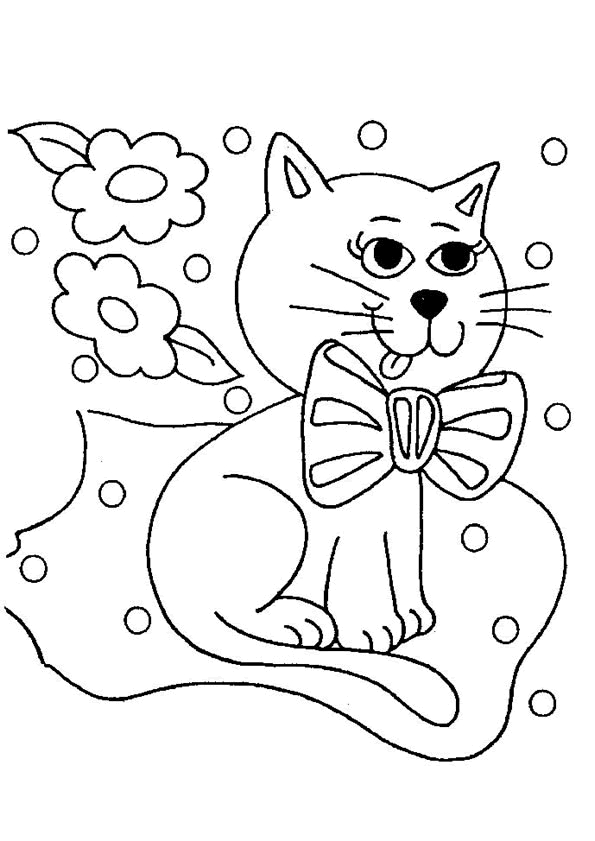 printable kitten coloring pages - page8