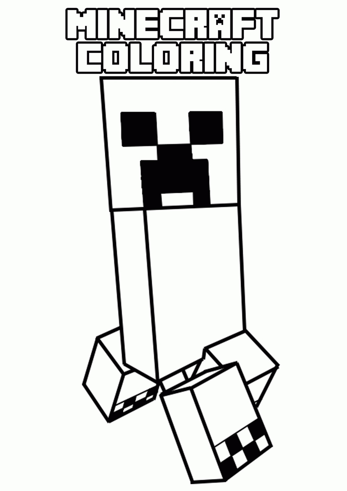 printable kitten coloring pages - printable minecraft coloring pages