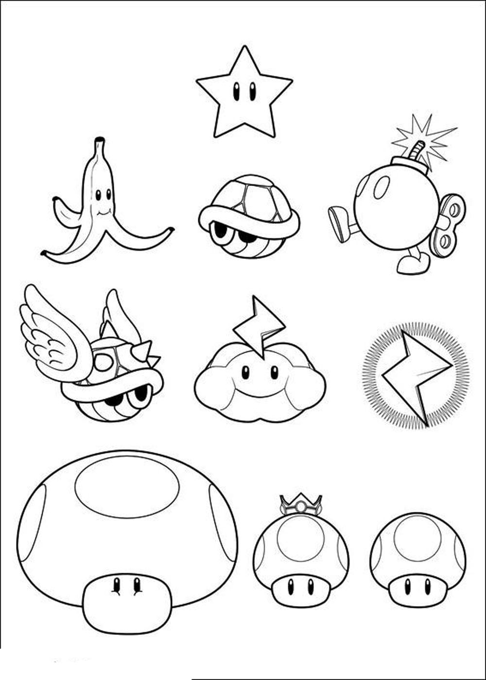 printable mario coloring pages - mario coloring pages themes