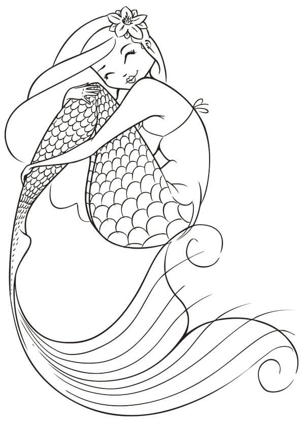 Printable mermaid coloring pages adult coloring pages mermaid