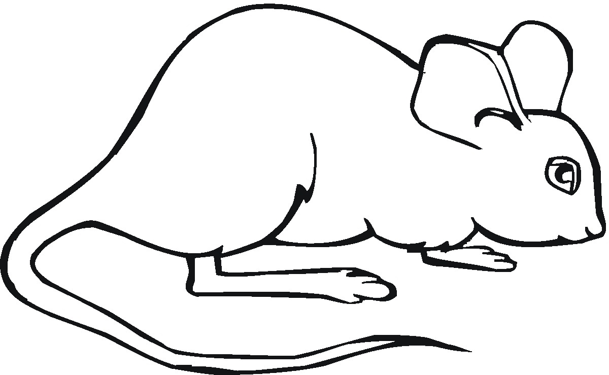 printable number coloring pages - mouse colouring pages