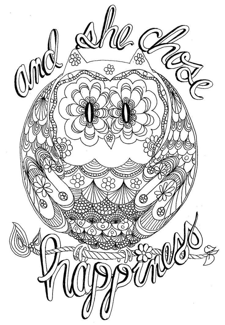 printable owl coloring pages for adults - owl coloring pages