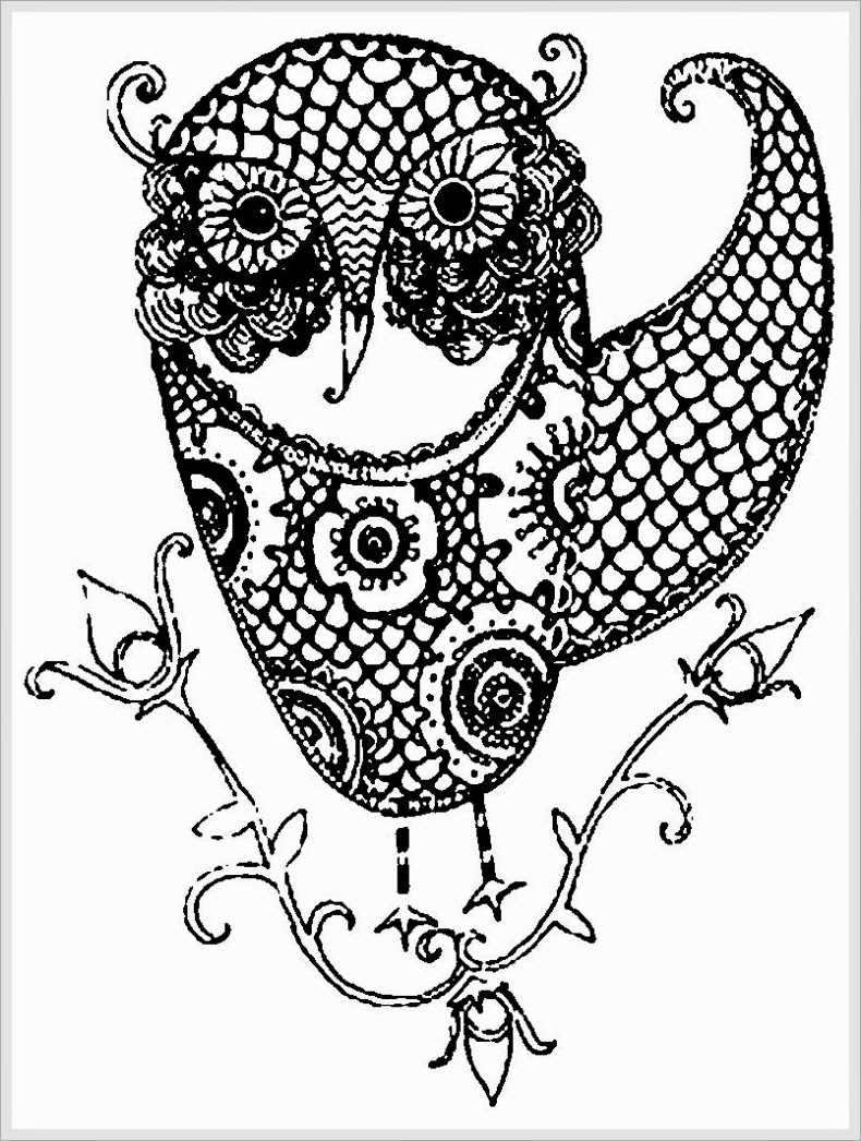 Printable Owl Coloring Pages for Adults - Owl Adult Free Printable Coloring Pages