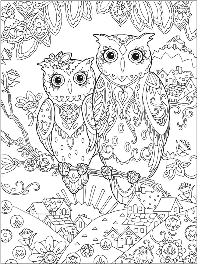 printable owl coloring pages for adults - printable coloring pages for adults 15 free designs