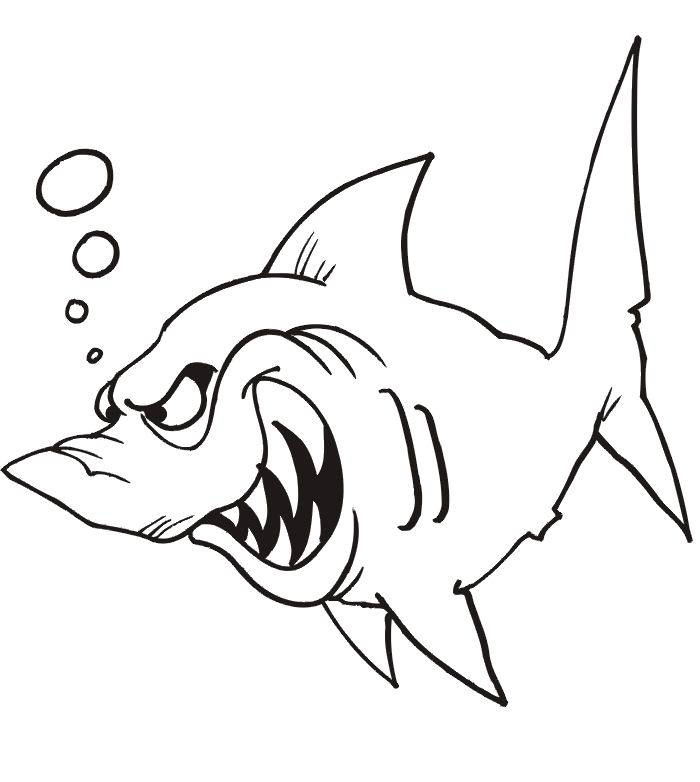 printable owl coloring pages - great white shark coloring pages