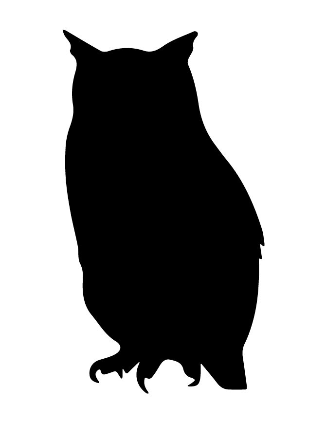 printable owl coloring pages - owl silhouette 97