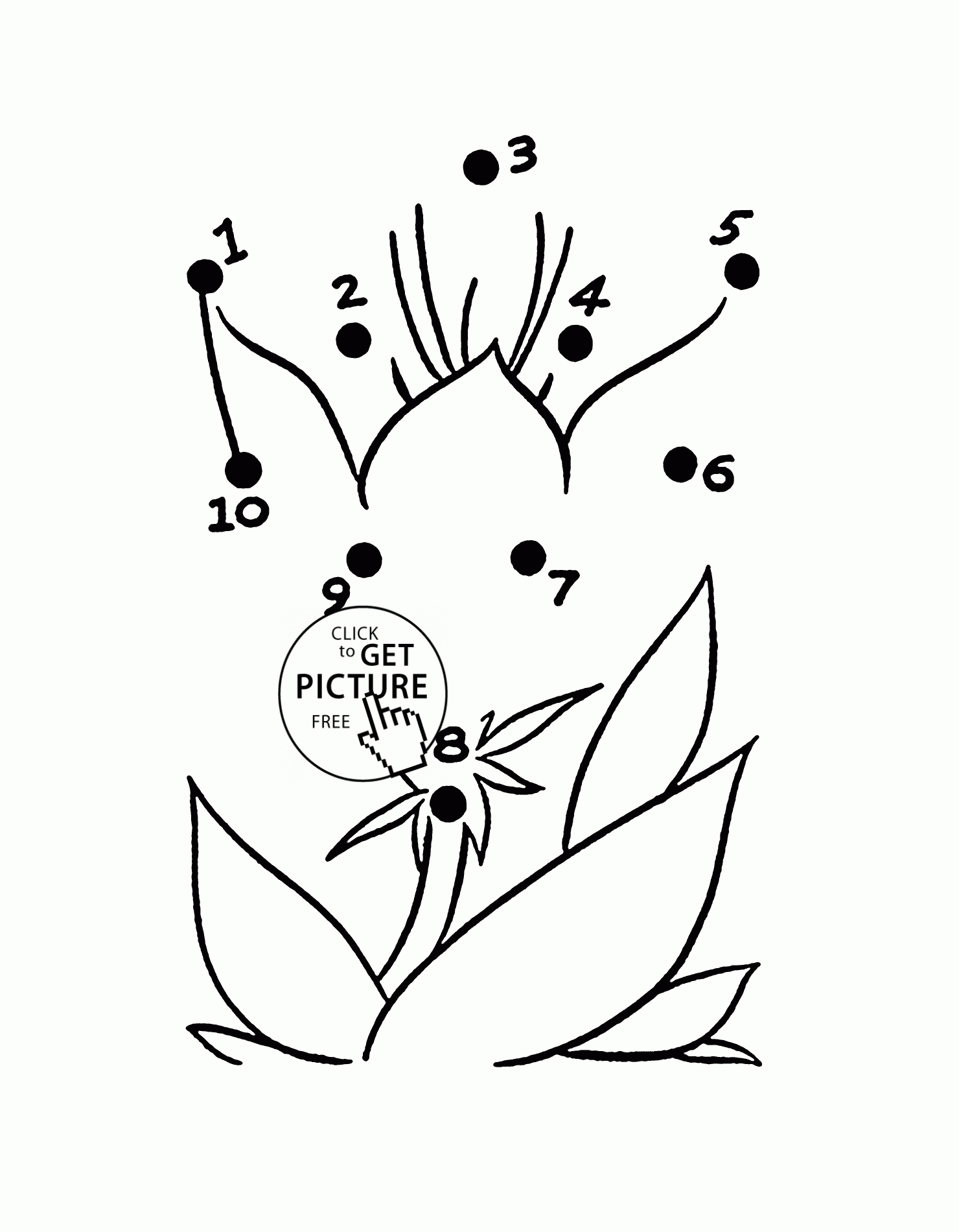 printable princess coloring pages - connect the dots flower flower easy dot to dot coloring pages for preschoolers connect