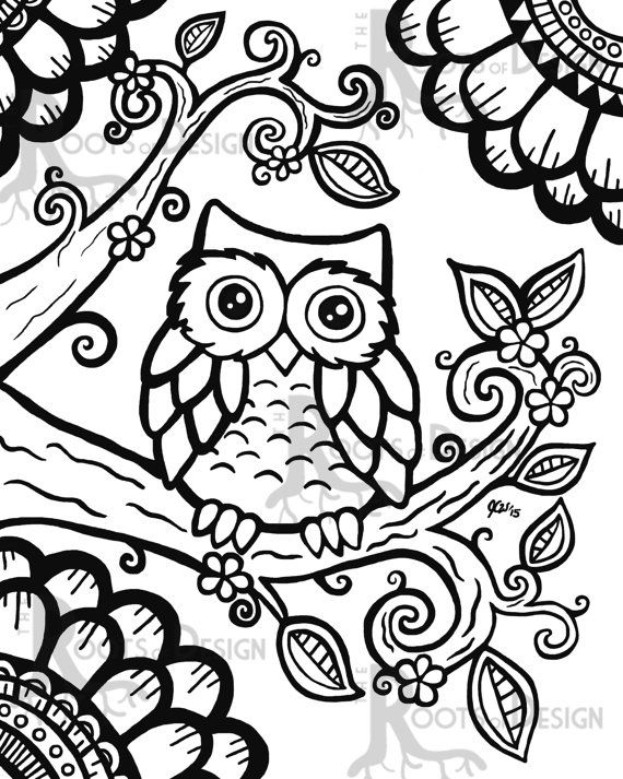 printable princess coloring pages - cute owl printable coloring pages