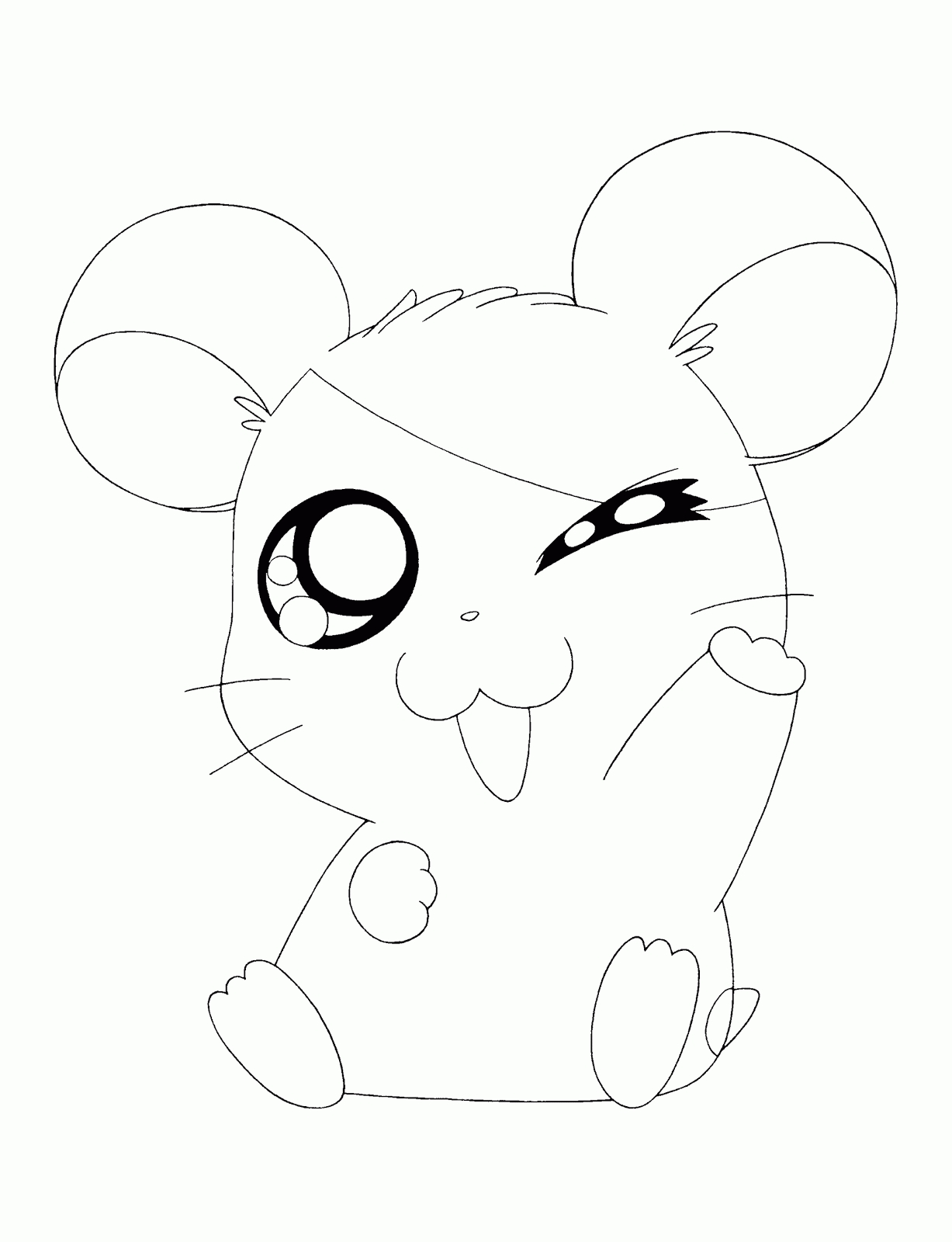 printable princess coloring pages - hamtaro cute animals coloring pages