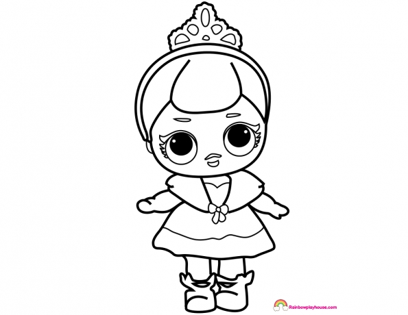 printable princess coloring pages - dolls crystal queen coloring page