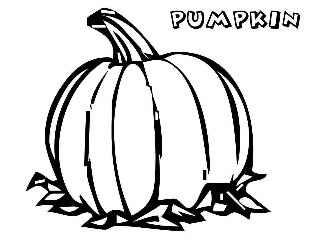 Printable Pumpkin Coloring Pages - Free Printable Pumpkin Coloring Pages for Kids