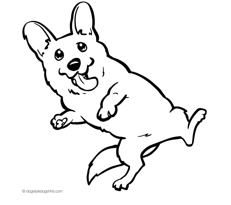 printable puppy coloring pages - corgi coloring pages