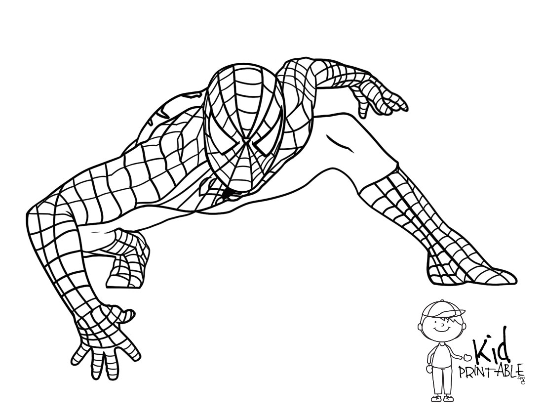 printable spiderman coloring pages - 64 best of spiderman coloring pages