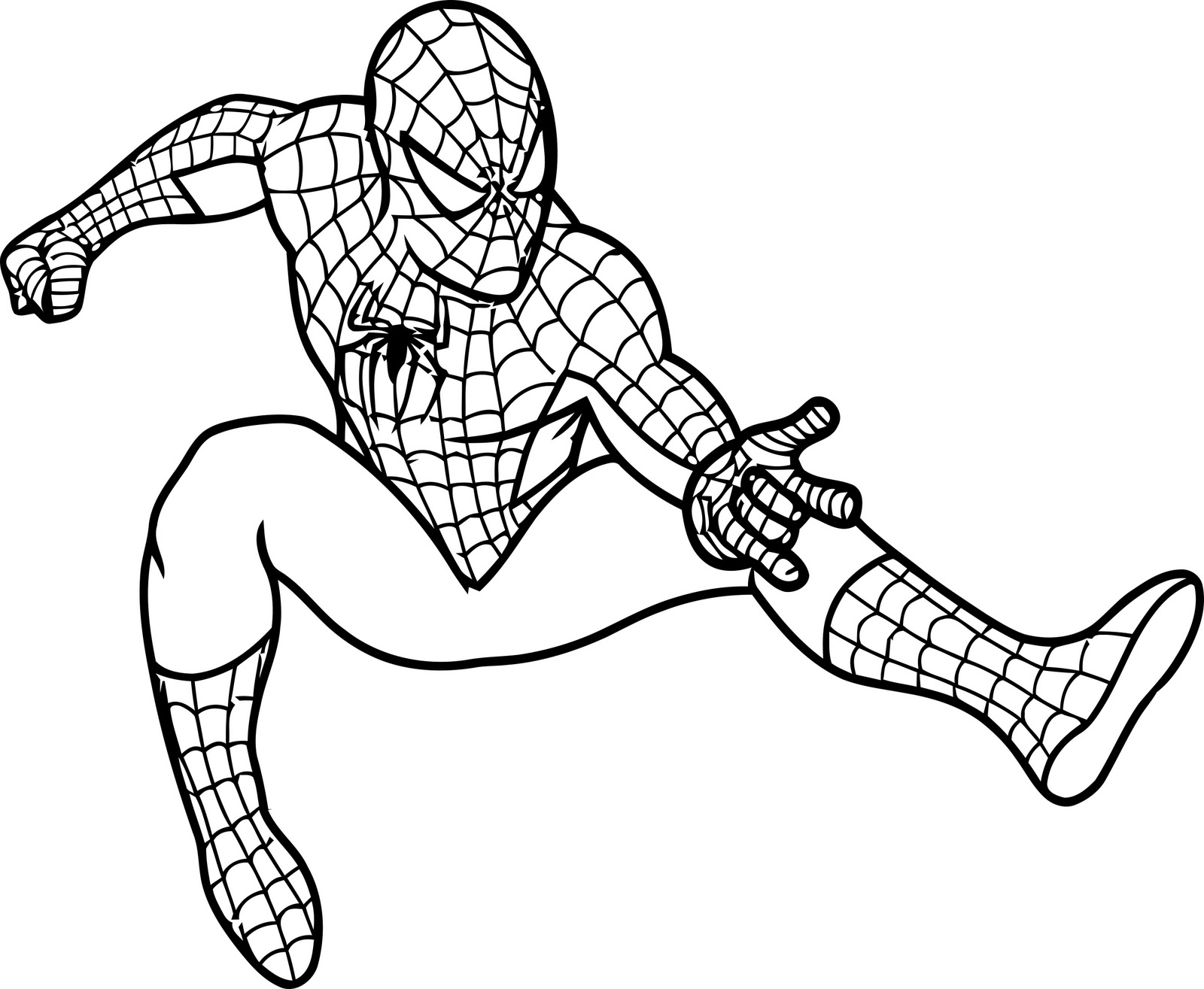Printable Spiderman Coloring Pages - Free Printable Spiderman Coloring Pages for Kids
