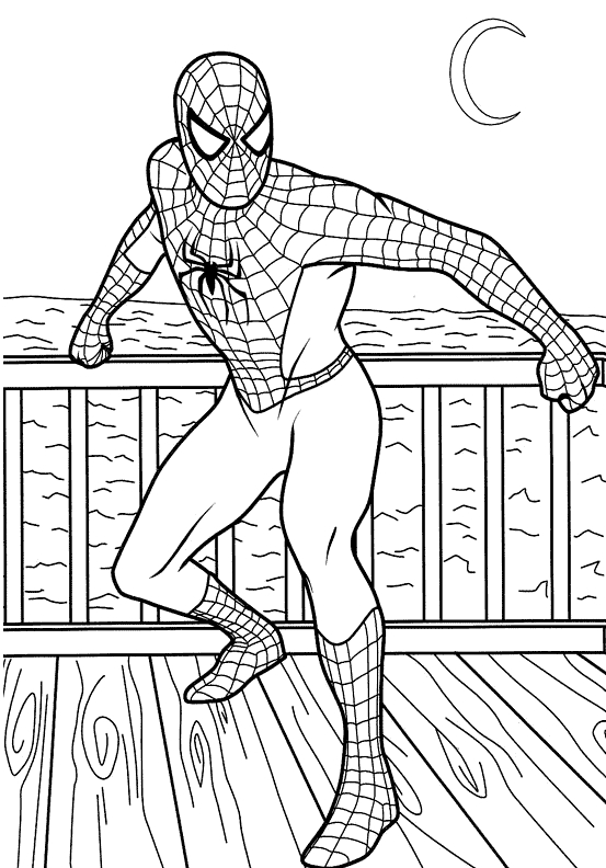 printable spiderman coloring pages - printable spiderman coloring pages