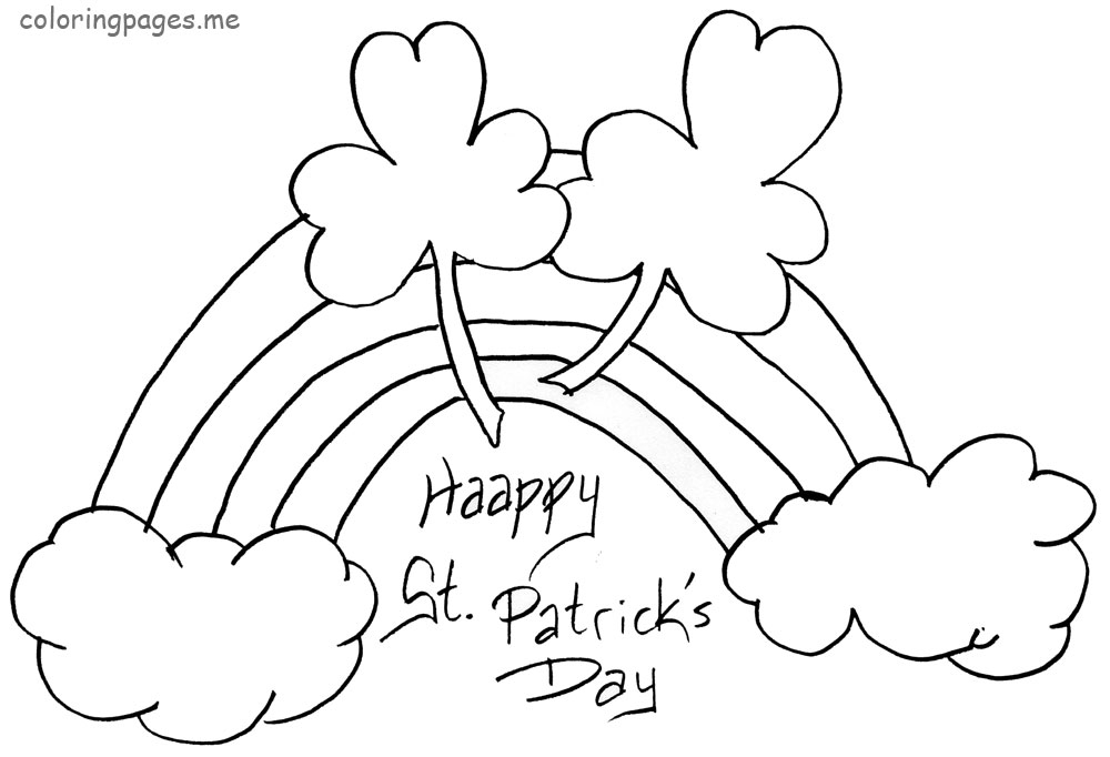 printable st patrick's day coloring pages - free printable st patrick day worksheets