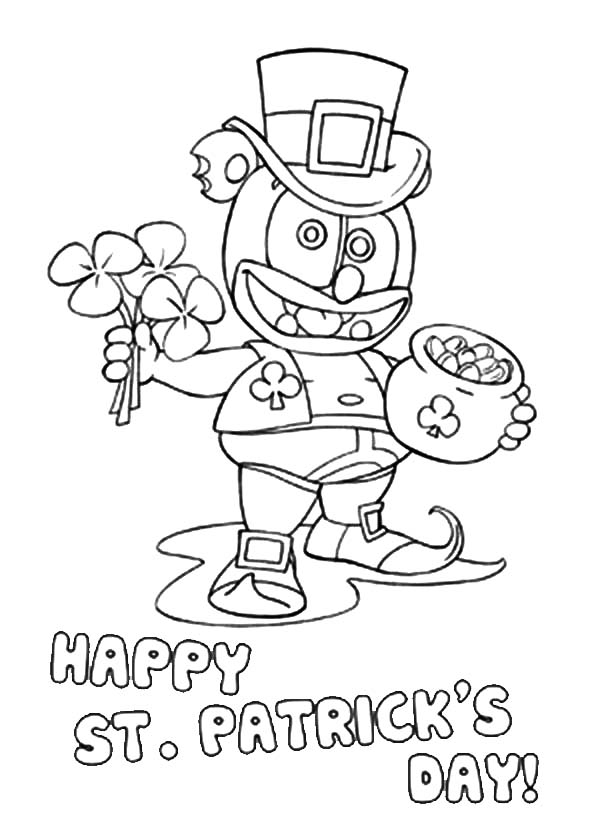 printable st patrick's day coloring pages - happy st patrick day gummy bear coloring pages free printable