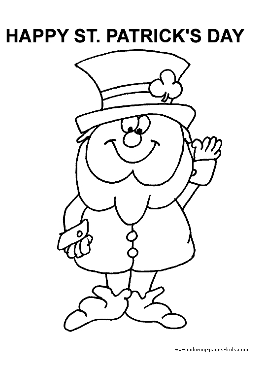 printable st patrick's day coloring pages - st patricks day coloring pages for free