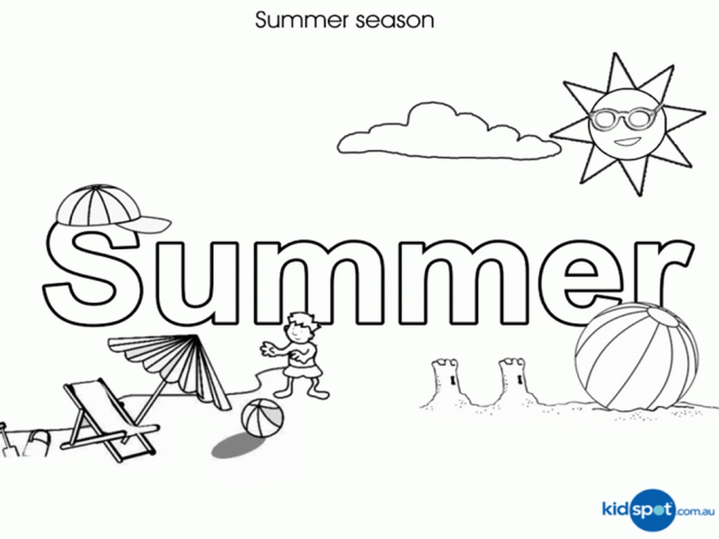 printable summer coloring pages - summer scene coloring sheets beach scene coloring pages classic with image of beach scene 100 7590