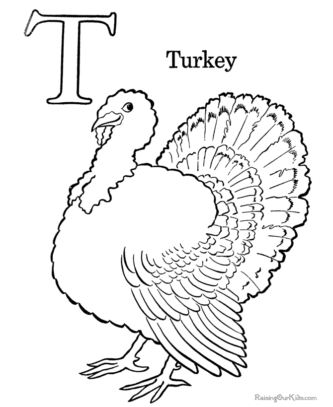 printable thanksgiving coloring pages - 008 preschool coloring turkey