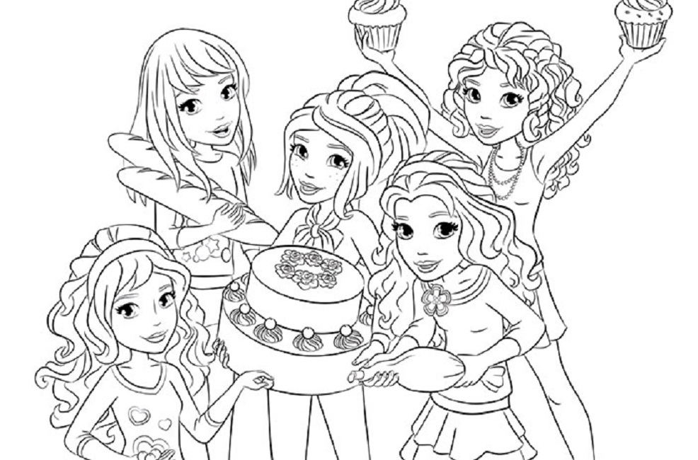 printable thanksgiving coloring pages - printable coloring pages lego friends