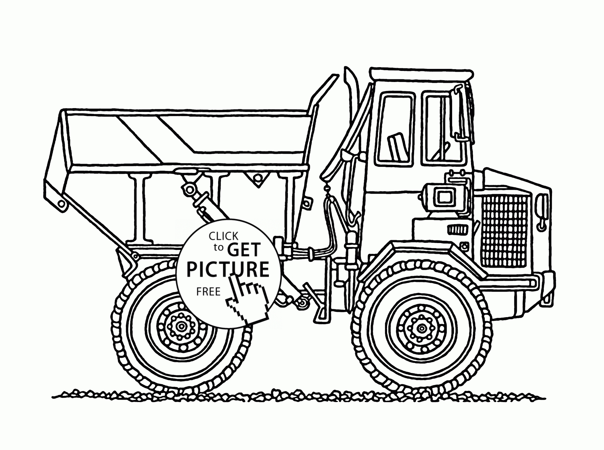 printable truck coloring pages - construction trucks coloring pages