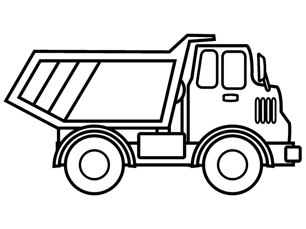 printable truck coloring pages - truck coloring pages