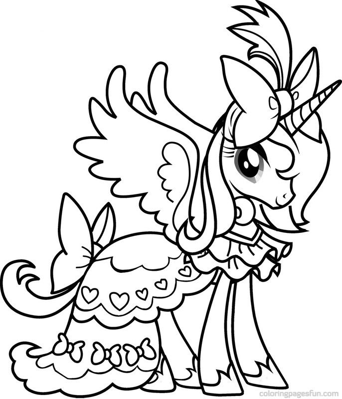 printable unicorn coloring pages - my little pony