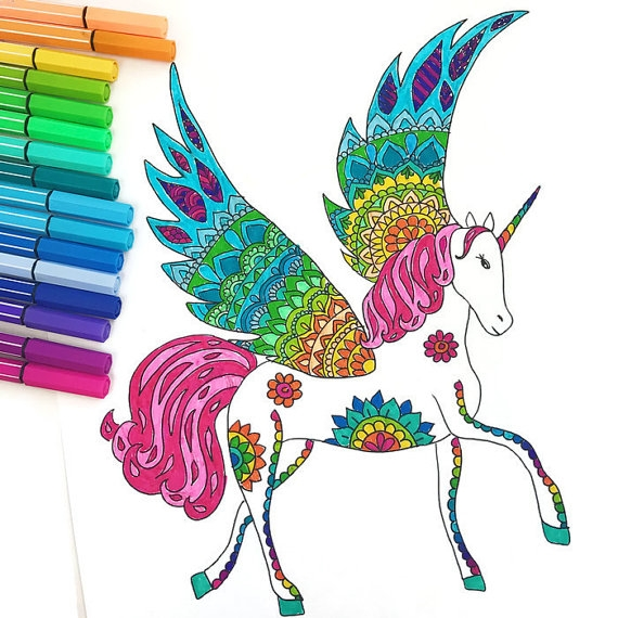 printable unicorn coloring pages - bare unicorn kleurplaat pagina