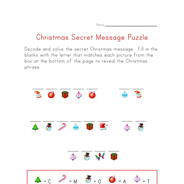 Printable Valentines Coloring Pages - Christmas Puzzle Worksheet Decode the Christmas Message