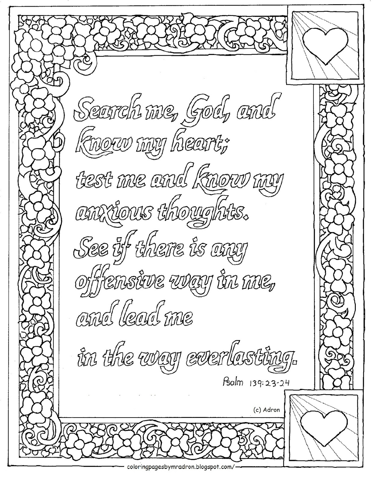 psalm 23 coloring page - printable psalm 24 coloring page