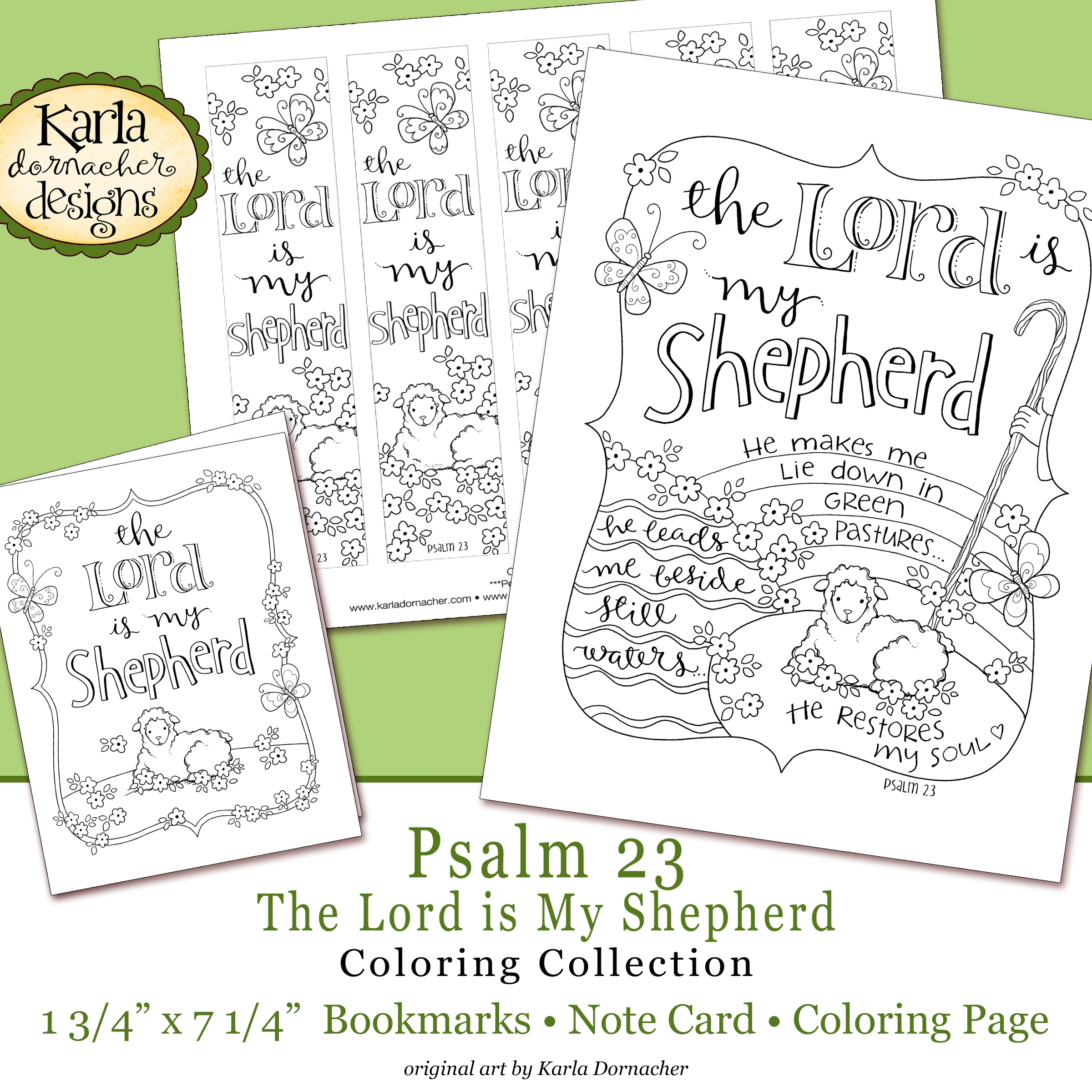 psalm 23 coloring page - easter psalm 23 bible journaling printable coloring collection