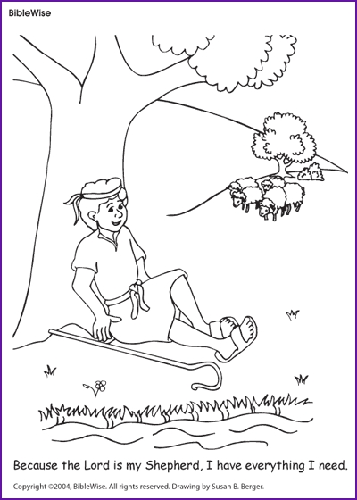 psalm 23 coloring page - q=23rd psalm