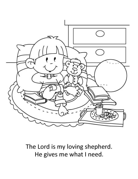 psalm 23 coloring page - q=psalm 23 1