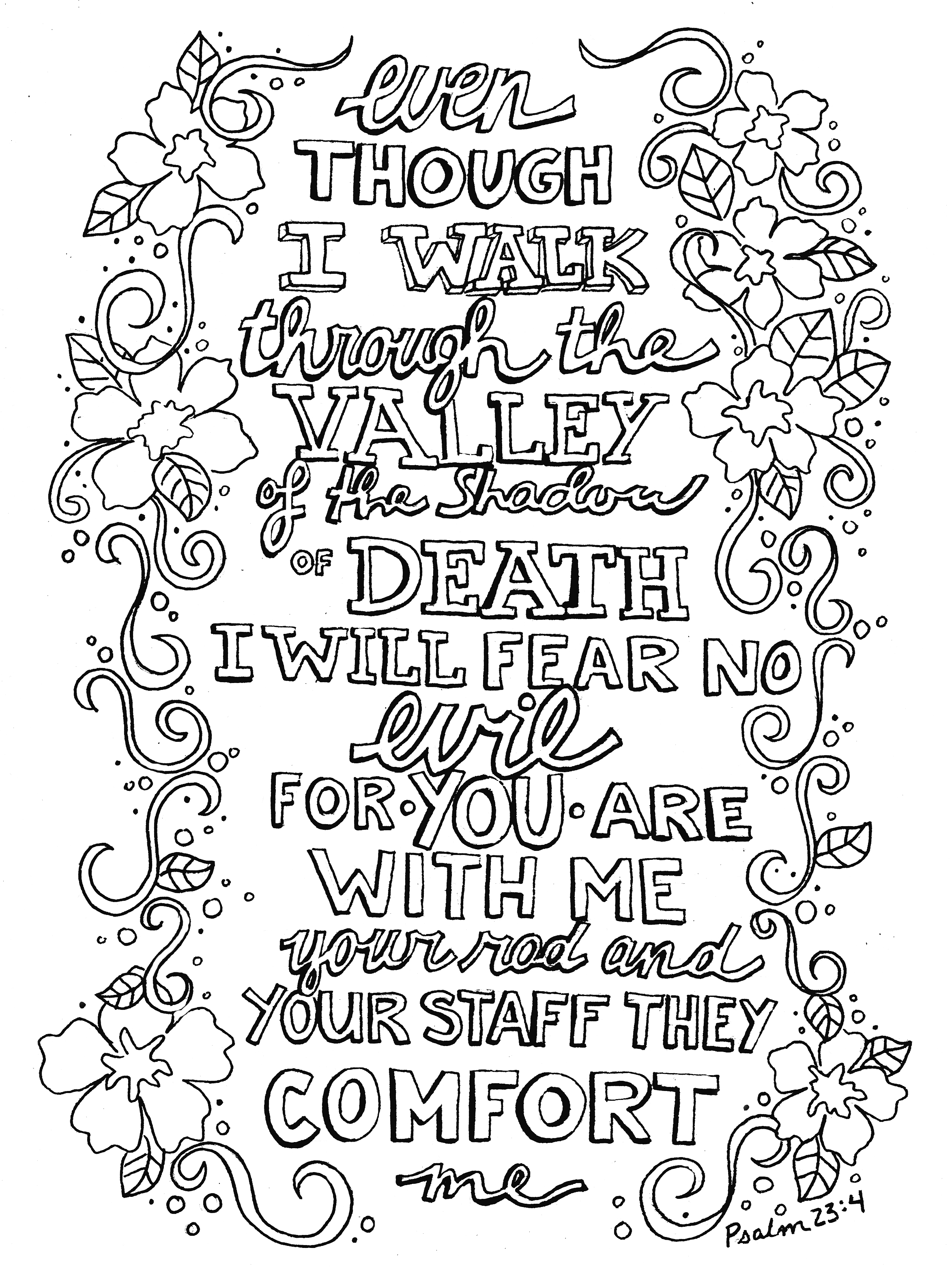 psalm 23 coloring page - q=psalms 23