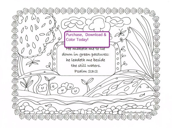 21 Psalm 23 Coloring Page Pictures Free Coloring Pages Part 3