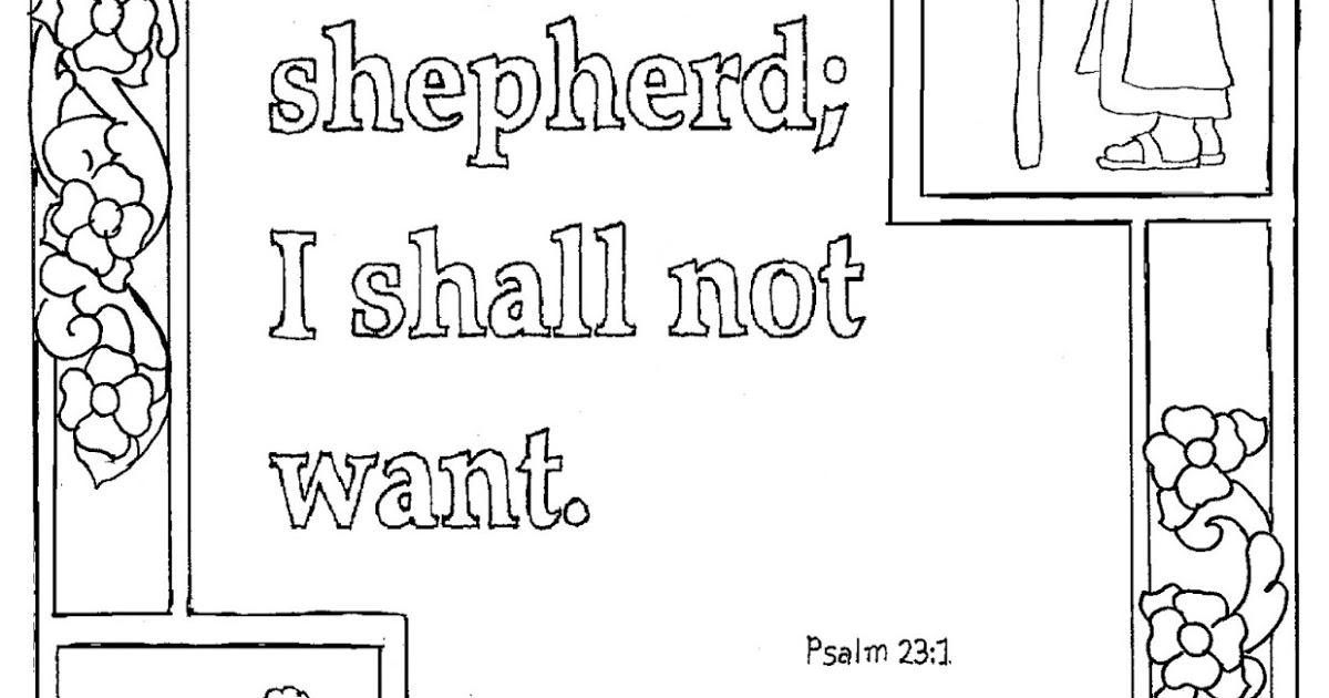 psalm 23 coloring page - psalm 23 coloring pages to print sketch templates