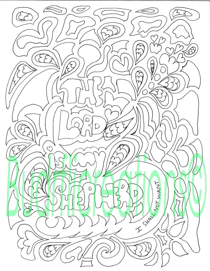 21 psalm 23 coloring page pictures free coloring pages for The lord is my shepherd coloring page