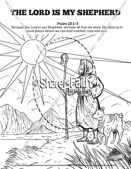 psalm 23 coloring page - the lord is my shepherd psalm 23 coloring page sketch templates