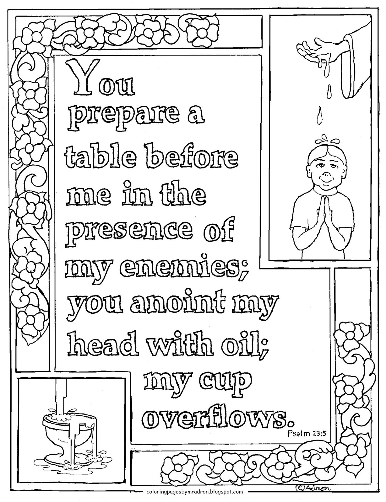 psalm 23 coloring page -
