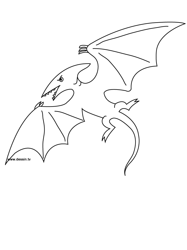pterodactyl coloring page - coloring pterodactyl
