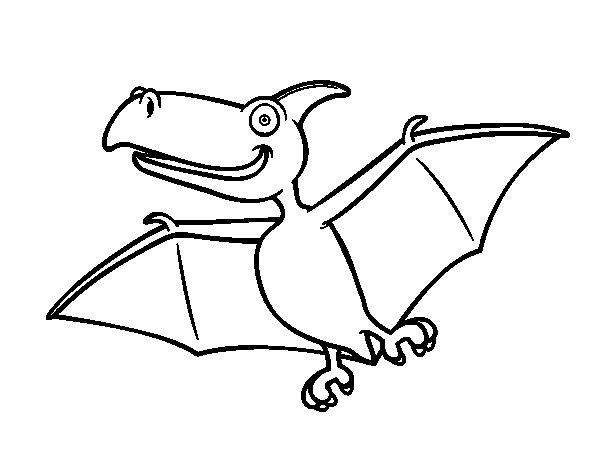 pterodactyl coloring page - pterodactylus