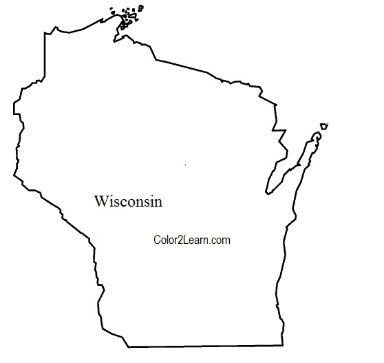puerto rico flag coloring page - wisconsin flag map coloring page
