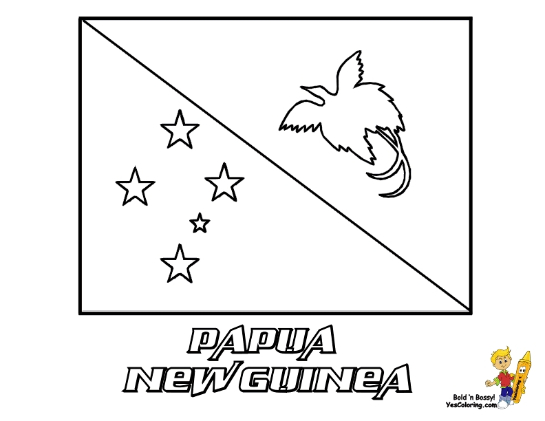 puerto rico flag coloring page - country flag coloring page