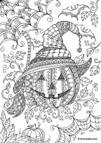 pumpkin coloring pages for adults - colouring pages